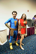 Kelly Delcambre as Captain Marvel, Jr. and Miriam Dafford as Mary Marvel