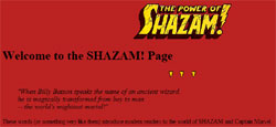 The Power of Shazam! Page