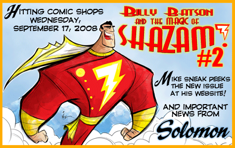 BILLY BATSON AND THE MAGIC OF SHAZAM! #2 Hits Shops September 17, 2008 border=
