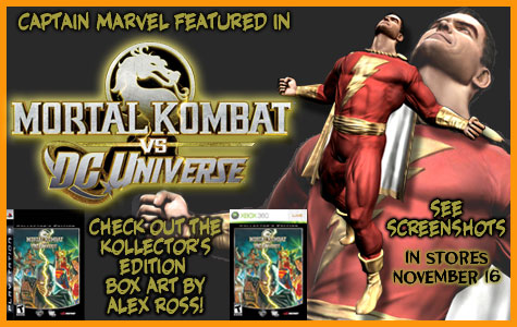 Mortal Kombat Vs DC Universe - Kollector's Edition with Art by Alex Ross! border=