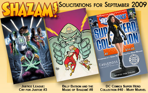 Shazam! Solicitations for September 2009 border=