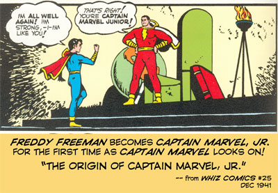 Freddy Freeman becomes Captain Marvel, Jr. for the first time!