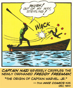 Captain Nazi cripples Freddy Freeman!