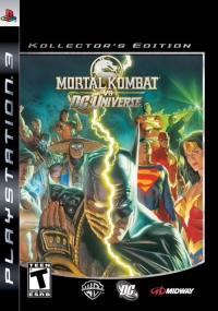 Alex Ross's cover art to the Kollector's Edition of Mortal Kombat Vs DC Universe for the PS3